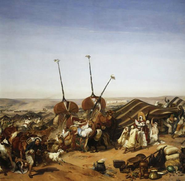 Wall Art - Painting - Prise De La Smala D'abd-el-kader Par Le Duc D'aumale A Taguin, 16 Mai 1843 by Horace Vernet
