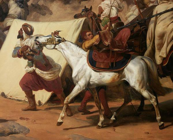 Wall Art - Painting - Prise De La Smala D'abd-el-kader Par Le Duc D'aumale A Taguin, Le 16 Mai 1843 by Emile Jean-Horace Vernet