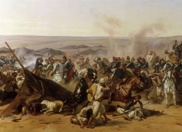 Wall Art - Painting - Prise De La Smala D'abd-el-kader Par Le Duc D'aumale A Taguin, Le 16 Mai 1843 by Horace Vernet