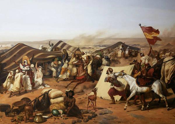 Wall Art - Painting - Prise De La Smalah D'abd-el-kader by Emile Jean-Horace Vernet
