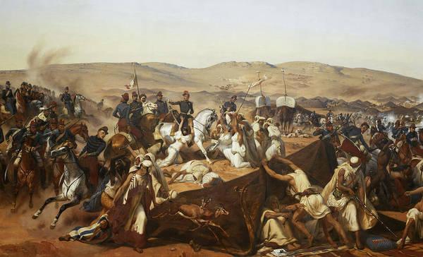 Wall Art - Painting - Prise De La Smalah D'abd-el-kader by Horace Vernet