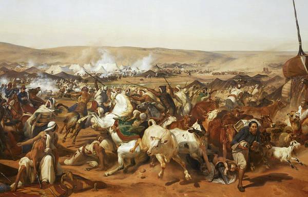 Wall Art - Painting - Prise De La Smalah D'abd-el-kader Le 1843 by Emile Jean-Horace Vernet