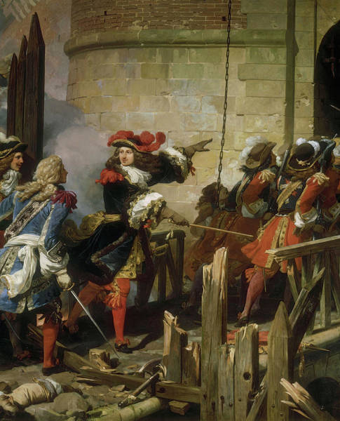 Wall Art - Painting - Prise De Valenciennes, 1677 by Jean Alaux