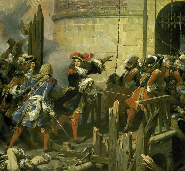 Wall Art - Painting - Prise De Valenciennes Par Le Roi Louis Xiv, 1677 by Jean Alaux