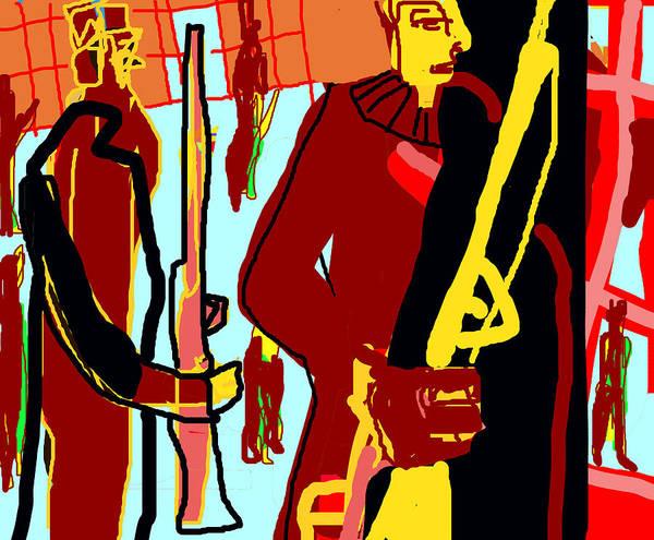 Digital Art - Prison Guards by Artist Dot