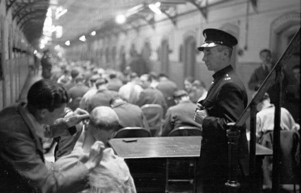 Manchester Photograph - Prison Haircut by Bert Hardy