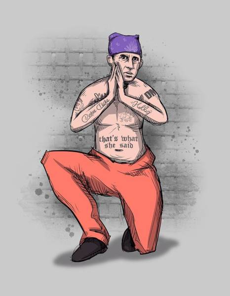 Drawing - Prison Mike by Ludwig Van Bacon