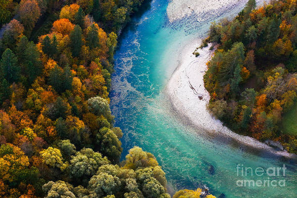 Wall Art - Photograph - Pristine Alpine Turquoise River by Zlikovec