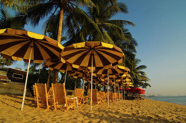 Sunshade Photograph - Private Beach With Sunshades And Chairs by Ingo Jezierski
