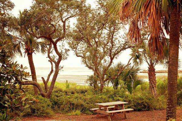 Wall Art - Photograph - Private View At Sunset Coastal Grill Port St. Joe by Toni Hopper