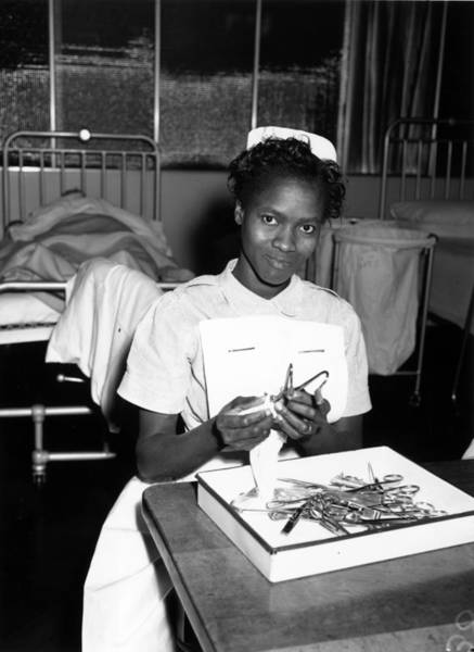 1958 Photograph - Probationer Nurse by George W Hales