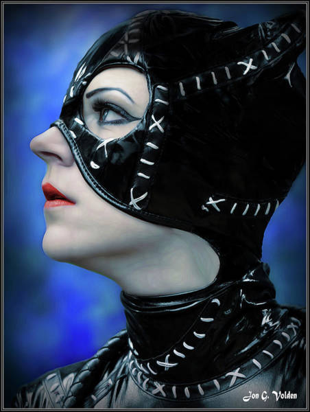 Photograph - Profile Of A Cat Woman by Jon Volden