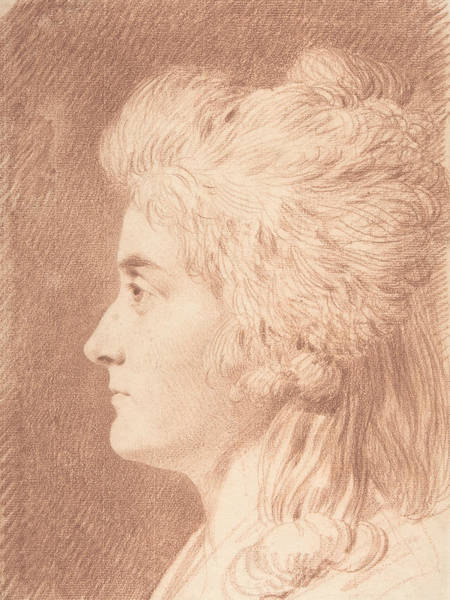 Drawing - Profile Portrait Of Miss Wieling by Johann Heinrich Wilhelm Tischbein