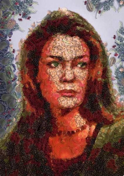 Digital Art - Profile Susan Ivonova by Mario Carini
