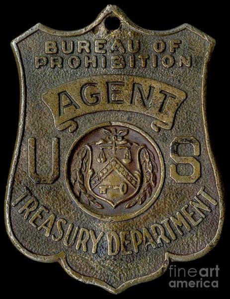 Wall Art - Photograph - Prohibition Agent Badge by Jon Neidert