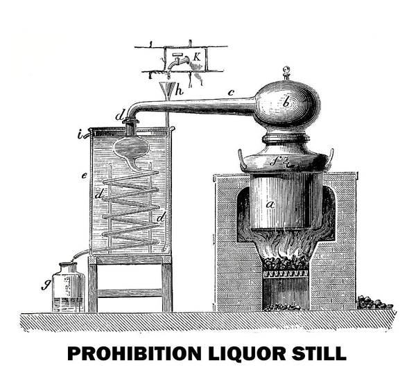 Wall Art - Digital Art - Prohibition Liquor Still - T-shirt by Daniel Hagerman