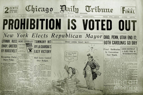 Vote Wall Art - Photograph - Prohibition Voted Out by Jon Neidert