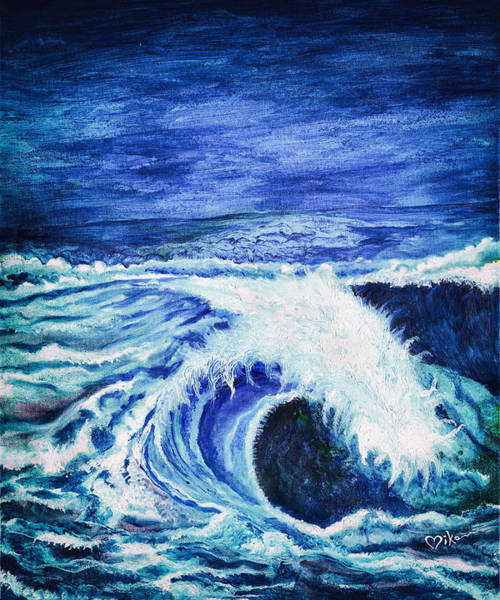 Wall Art - Painting - Promethea Ocean Triptych 1 by Miko At The Love Art Shop