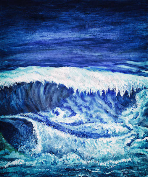 Painting - Promethea Ocean Triptych 2 by Miko At The Love Art Shop