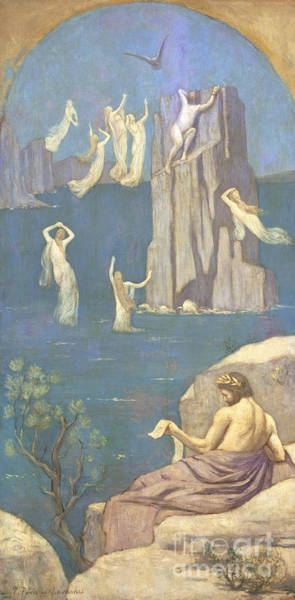 Wall Art - Painting - Prometheus by Pierre Puvis de Chavannes