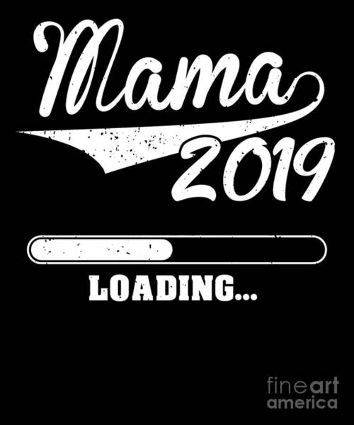Parenthood Digital Art - Promoted To Mama Est 2019 Becoming Mother Gift by J M