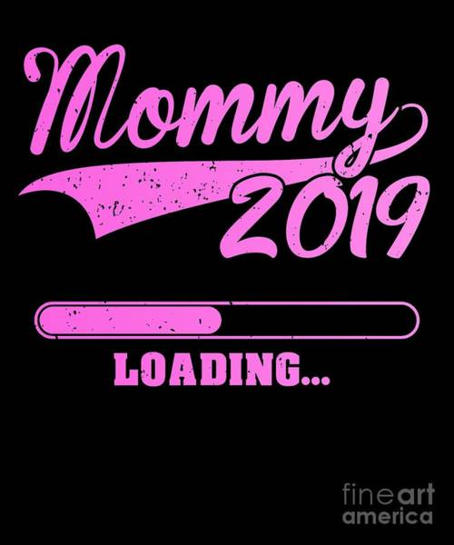 Parenthood Digital Art - Promoted To Mommy Est 2019 Becoming Mother Gift by J M