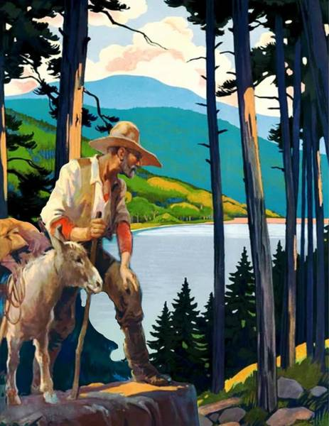 Mountaineer Digital Art - Prospector by Laura Botsford