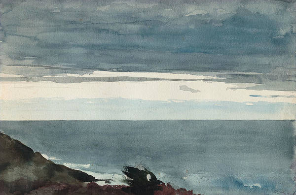 Wall Art - Drawing - Prout's Neck, Evening by Winslow Homer