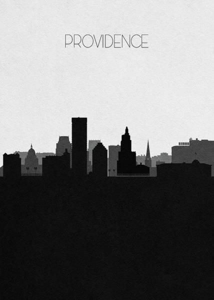 Souvenir Digital Art - Providence Cityscape Art by Inspirowl Design