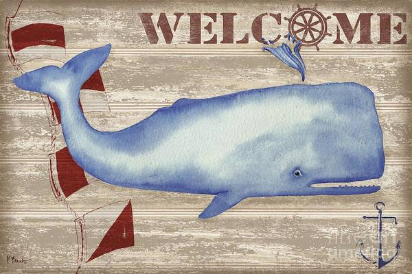 Wall Art - Painting - Providence Whale Collage by Paul Brent