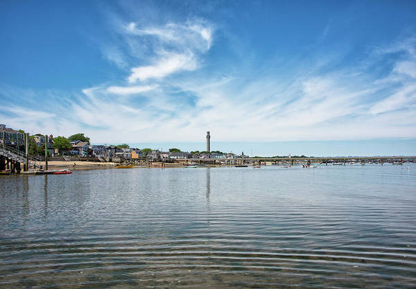 Provincetown Ma Wall Art - Photograph - Provincetown Harbor And Pilgrim Monument by Brendan Reals