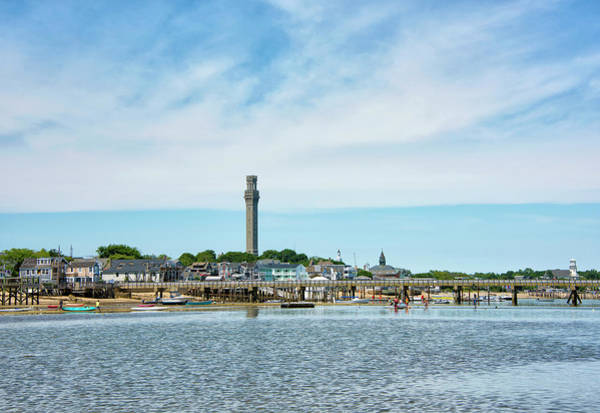 Provincetown Ma Wall Art - Photograph - Provincetown Harbor And Pilgrim Monument - Massachusetts by Brendan Reals