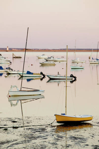 Cape Cod Sunset Photograph - Provincetown Harbor by Walter Bibikow
