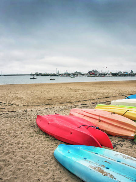 Wall Art - Photograph - Provincetown Kayaks - Cape Cod Massachusetts by Brendan Reals