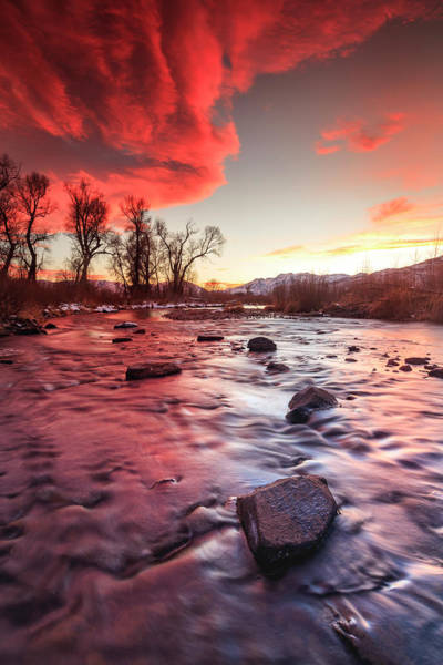 Wall Art - Photograph - Provo River Vertical Burner by Johnny Adolphson