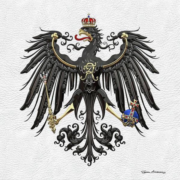 Digital Art - Prussian Royal Eagle 1892-1918 by Serge Averbukh