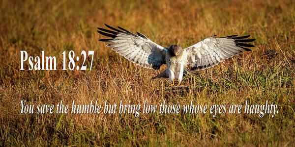 Mixed Media - Psalm 18 27 Humble by Jeff Phillippi
