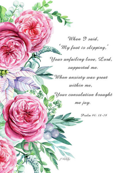 Mixed Media - Psalm 94 - Kindness by Jordan Blackstone