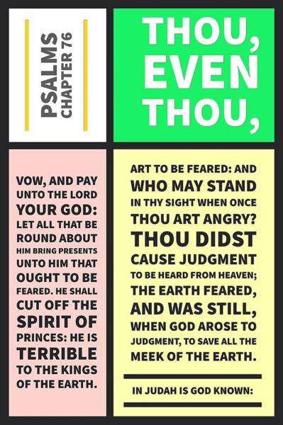 Digital Art - Psalms Chapter 76 by Payet Emmanuel