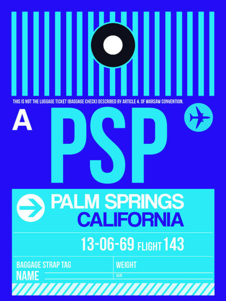 Wall Art - Digital Art - Psp Palm Springs Luggage Tag II by Naxart Studio