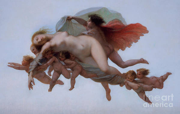 Wall Art - Painting - Psyche, 1856  by Auguste Barthelemy Glaize