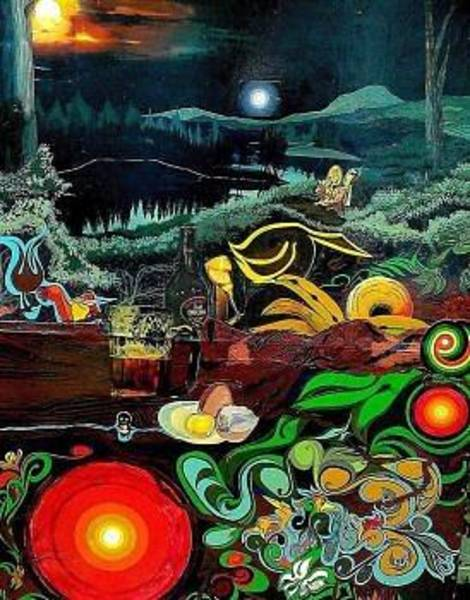 Baroque Mixed Media - Psychedelic 60s by John Baroque
