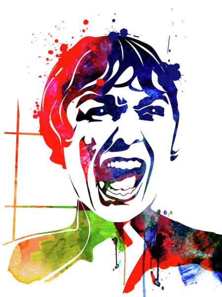 Wall Art - Mixed Media - Psycho Watercolor by Naxart Studio