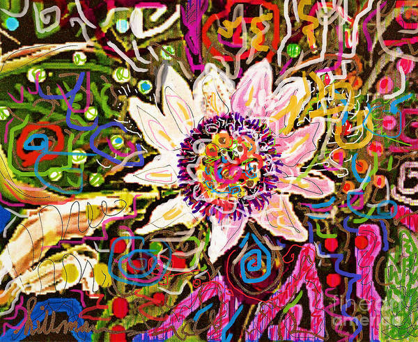 Wall Art - Mixed Media - Pua Nani by A Hillman