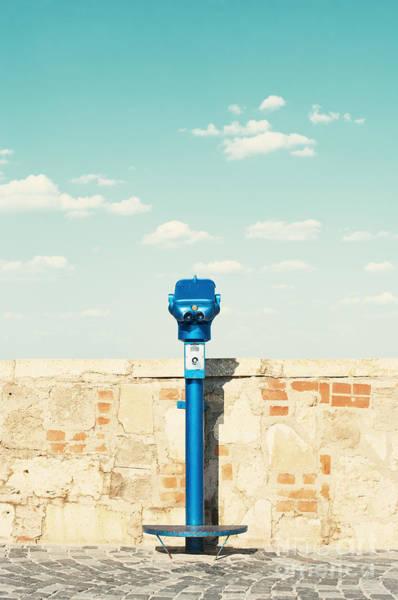 Brick Wall Art - Photograph - Public Binocular In Budapest Hungary by Waku