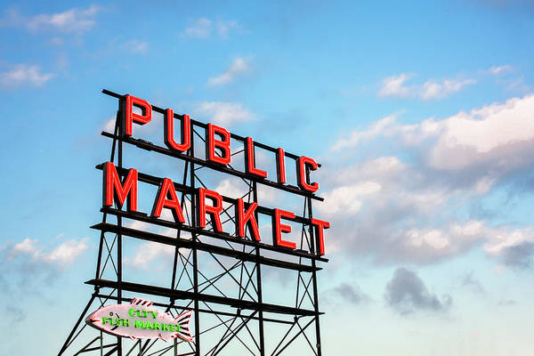 Pikes Place Wall Art - Photograph - Public Market By Day by Todd Klassy