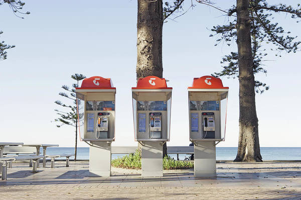 Manly Wall Art - Photograph - Public Phone Booths by Paul Taylor