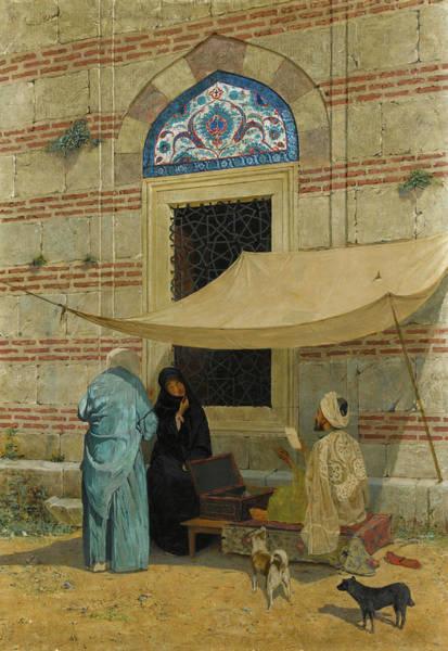 Wall Art - Painting - Public Scribe by Osman Hamdi Bey