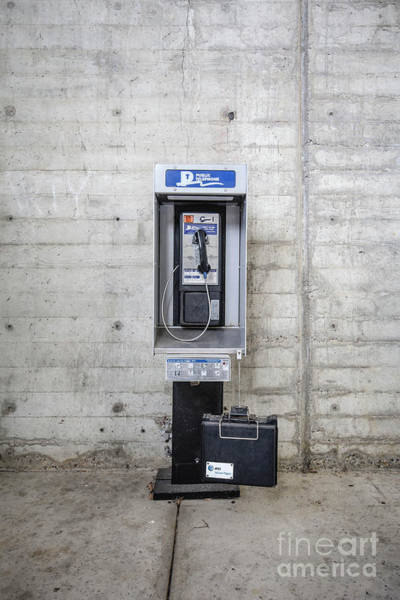 Phone Booth Photograph - Public Telephone by Edward Fielding