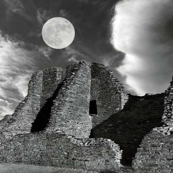 Wall Art - Photograph - Pueblo Bonito Beneath The Moon  by Kathleen Bishop